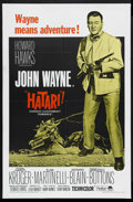 "Movie Posters:Adventure, Hatari! (Paramount, R-1967). One Sheet (27"" X 41""). AdventureComedy. Starring John Wayne, Hardy Kruger, Elsa Martinelli, Ge..."