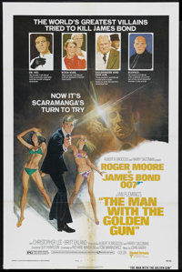 "The Man With the Golden Gun (United Artists, 1974). One Sheet (27"" X 41"") Style B. James Bond Action. Starring..."