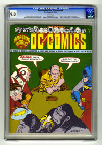 "Amazing World of DC Comics #8 (DC, 1975) CGC VF/NM 9.0 White pages. Carmine Infantino cover and biography. ""Map of..."