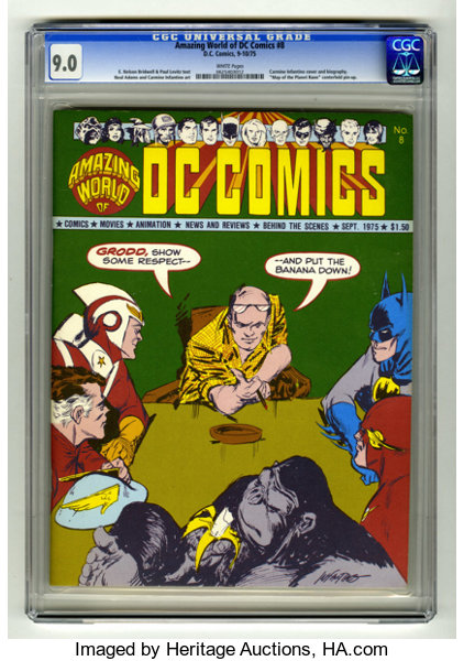 Amazing World of DC Comics #8 (DC, 1975) CGC VF/NM 9.0 White ...