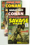 Bronze Age (1970-1979):Miscellaneous, Savage Tales Group (Marvel, 1971-75) Condition: Average VF.Five-issue group lot features #1 (origin and first appearance of...(5 Comic Books)