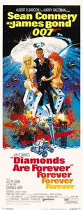 "Movie Posters:James Bond, Diamonds are Forever (United Artists, 1971). Insert (14"" X 36"")...."