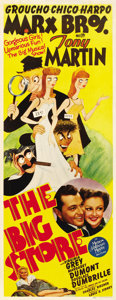 "Movie Posters:Comedy, The Big Store (MGM, 1941). Insert (14"" X 36"")...."