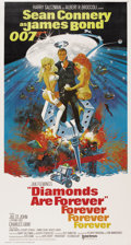 "Movie Posters:James Bond, Diamonds are Forever (United Artists, 1971). Three Sheet (41"" X81"")...."