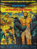 "Movie Posters:Science Fiction, Planet of the Apes (20th Century Fox, 1968). French Grande (47"" X63"")...."