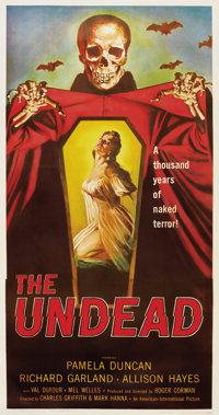 """The Undead (American International, 1957). Three Sheet (41"""" X 81"""").... (Total: 2 Items)"""