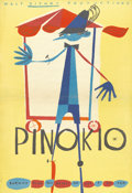 "Movie Posters:Animated, Pinocchio (Walt Disney Productions, R-1962). Polish One Sheet (23""X 33"")...."