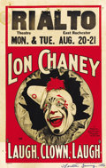 "Movie Posters:Drama, Laugh, Clown, Laugh (MGM, 1928). Window Card (14"" X 22"")...."