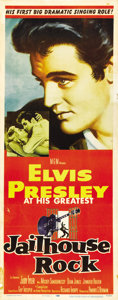 "Movie Posters:Elvis Presley, Jailhouse Rock (MGM, 1957). Insert (14"" X 36"")...."