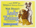 "Movie Posters:Animated, Lady and the Tramp (Buena Vista, 1955). Half Sheet (22"" X 28"")...."