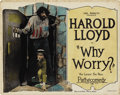 "Movie Posters:Comedy, Why Worry? (Pathé, 1923). Title Lobby Card (11"" X 14"")...."