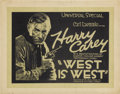 "Movie Posters:Western, West is West (Universal, 1920). Title Lobby Card and Lobby Card (11"" X 14"").... (Total: 2 Items)"