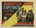 "Movie Posters:Comedy, Tiptoes (Paramount, 1927). Title Lobby Card and Scene Cards (2)(11"" X 14"").... (Total: 3 Items)"