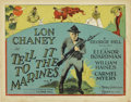 "Movie Posters:War, Tell it to the Marines (MGM, 1926). Title Lobby Card and Lobby Card(11"" X 14"").... (Total: 2 Items)"