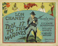 """Tell it to the Marines (MGM, 1926). Title Lobby Card and Lobby Card (11"""" X 14"""").... (Total: 2 Items)"""