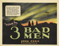 "Movie Posters:Western, 3 Bad Men (Fox, 1926). Title Card and Lobby Card (11"" X 14"").... (Total: 2 Items)"