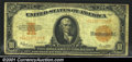 Large Size Gold Certificates:Large Size, 1922 $10 Gold Certificate, Fr-1173, VG+. The paper is solid for...