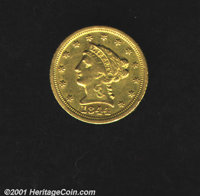 1844-D $2 1/2 XF 40. A good example of a nicely circulated coin from the Dahlonega Mint. Even wear, just light scratch m...