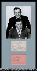 Autographs, Abbott and Costello