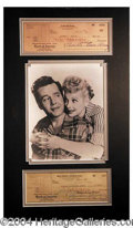 Autographs, Desi Arnaz and Lucille Ball