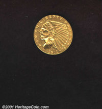 1911-D $2 1/2 MS 60 Lightly Cleaned. The surfaces are somewhat dulled from cleaning and there are numerous small abrasio...