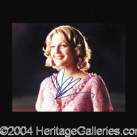 """Drew Barrymore - An adorable 8 x 10 glossy color photograph from """"Never Been Kissed"""", boldly signed by Barrymo..."""