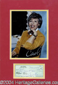 Autographs, Matted Celebrity Checks