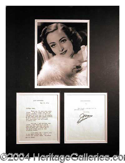 Joan Crawford Autographs Lot 146 Heritage Auctions
