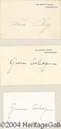 Autographs, CALVIN COOLIDGE