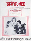 Autographs, Sheet Music from Bewitched