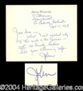 Autographs, John Huston