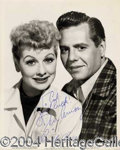 Autographs, LUCILLE BALL AND DESI ARNAZ