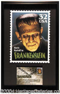 Autographs, Boris Karloff as Frankenstein