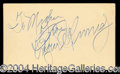 Autographs, Edgar Kennedy