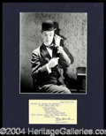 Autographs, Stan Laurel