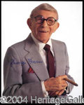 Autographs, GEORGE BURNS