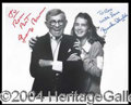 Autographs, GEORGE BURNS AND BROOKE SHIELDS