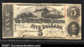 Confederate Notes:1863 Issues, 1863 $5 State Capitol at Richmond, VA in center; C.G. Memminger...