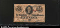 Confederate Notes:1863 Issues, 1863 50 Cents Bust of Jefferson Davis, T-63, VG. You may bid on...