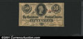 Confederate Notes:1863 Issues, 1863 50 Cents Bust of Jefferson Davis, T-63, XF. You may bid on...