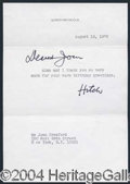 Autographs, ALFRED HITCHCOCK.