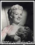 Autographs, BETTY GRABLE