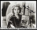 Autographs, Shirley Temple Black