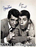Autographs, DEAN MARTIN AND JERRY LEWIS
