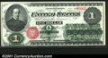 1862 $1 Legal Tender Note, Fr-16, Choice-Gem CU. This fantastic specimen has slightly imperfect centering, otherwise it...
