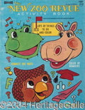Autographs, Lot of Six New Zoo Revue Coloring Books