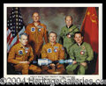 Autographs, Apollo-Soyuz Crew Signed Photo