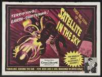 "Satellite In The Sky (Warner Brothers, 1956). British Quad (30"" X 40""). Science Fiction. Starring Kieron Moore..."