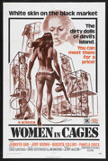 "Movie Posters:Sexploitation, Women in Cages (New World Pictures, 1971). One Sheet (27"" X 41"").Sexploitation. Starring Jennifer Gan, Judy Brown, Roberta ..."
