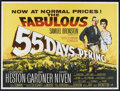 "Movie Posters:Adventure, 55 Days at Peking (Allied Artists, R-1960s). British Quad (30"" X40""). Adventure. Starring Charlton Heston, Ava Gardner, Dav..."